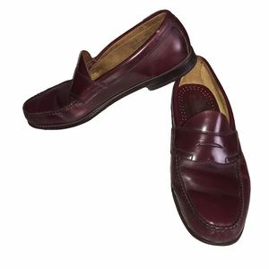 G.H. Bass & Co. Weejuns Burgundy Penny Loafers